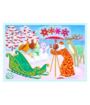"""Цветная открытка """"ВЗЯВ У ЗАКАТА ПРЕ-КРАСНЫХ ТОНОВ..."""" (выпуск 3)"""
