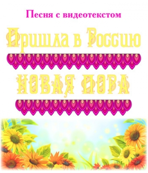 """Песня """"ПРИШЛА В РОССИЮ НОВАЯ ПОРА..."""", с видеотекстом. DVD"""